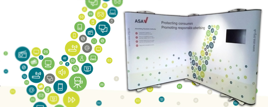 Advertising Standards Authority exhibition stand designed by company Pad Creative
