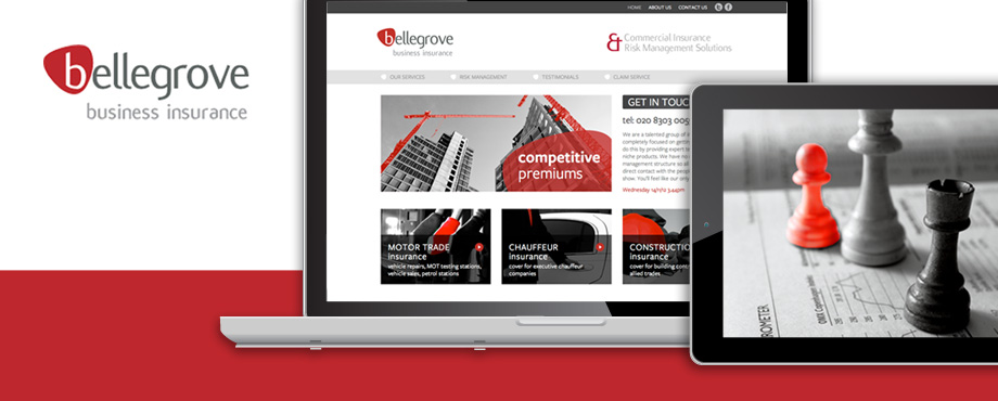 Website build for Bellegrove by design agency Pad Creative