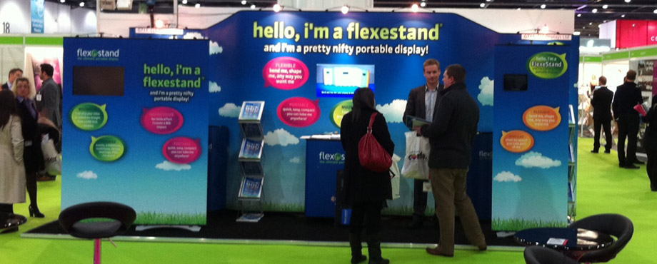 Exhibition stand designed by Pad Creative for Flexestand