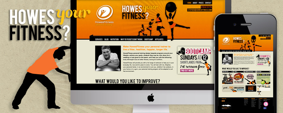 Howes Fitness website build by design company Pad Creative