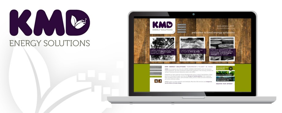 Website design by creative agency Pad for KMD