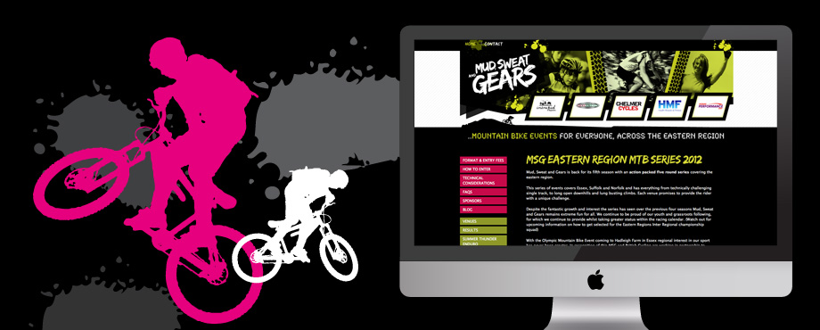 Mud Sweat & Gears website design by creative company Pad
