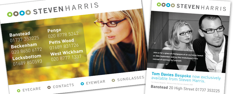 Creative agency Pad produced this advert for Steven Harris Opticians