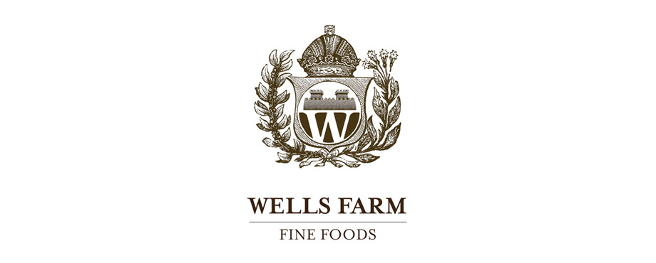 Wells Farm Fine Foods logo designed by agency Pad Creative