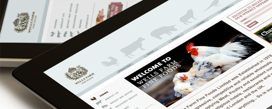 Design and production of Wells Farm Fine Foods by creative agency Pad