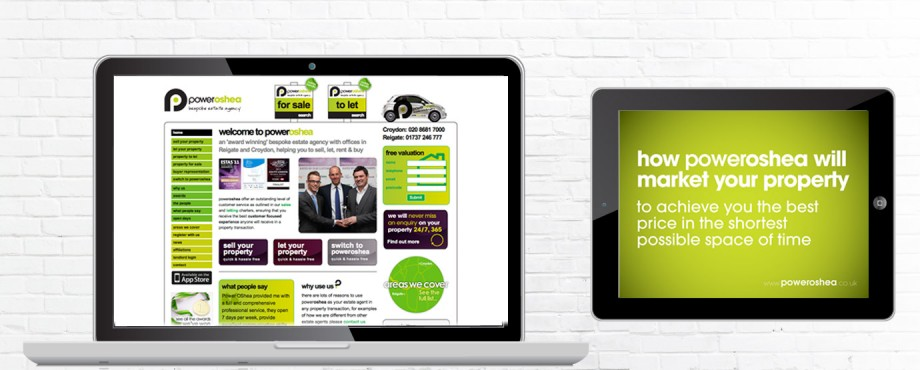Website design and build by Pad Creative for Poweroshea