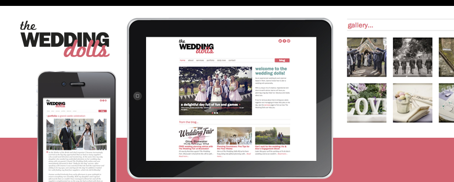 Website development for Wedding Dolls by design agency Pad Creative
