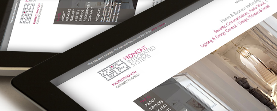 Design agency Pad Creative developed this website for Midnight Integrated Systems