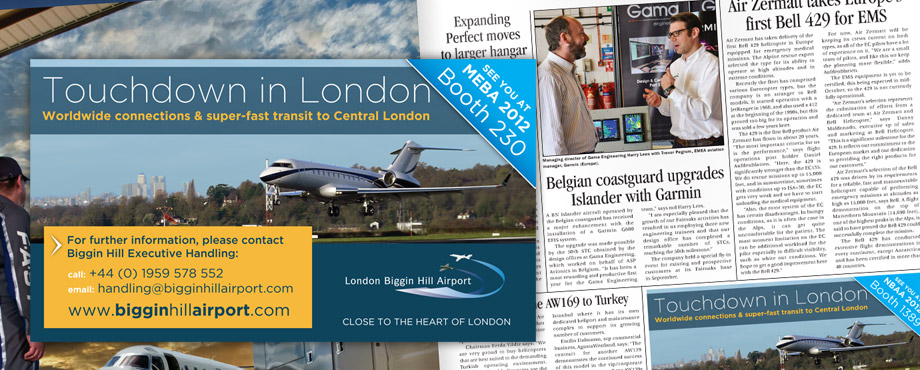 Pad Creative designed this advert for Biggin Hill Airport