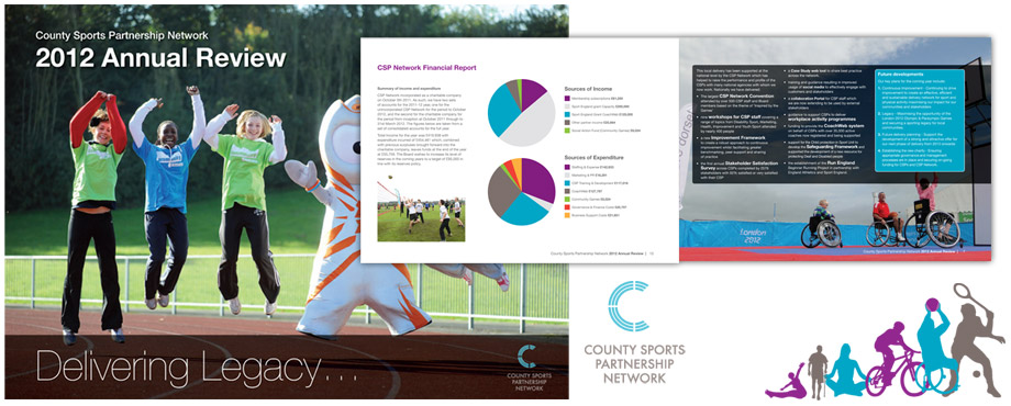 Design agency Pad Creative's annual report for CSPN