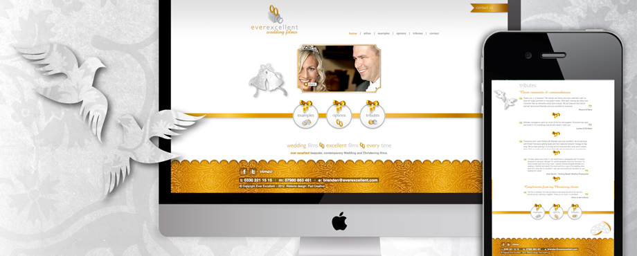 Website design for Ever Excellent by creative agency Pad