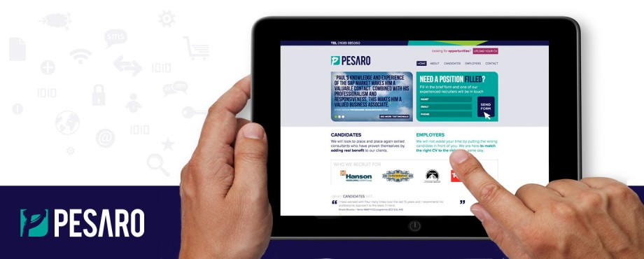 Website design and build for IT experts Pesaro by Pad Creative