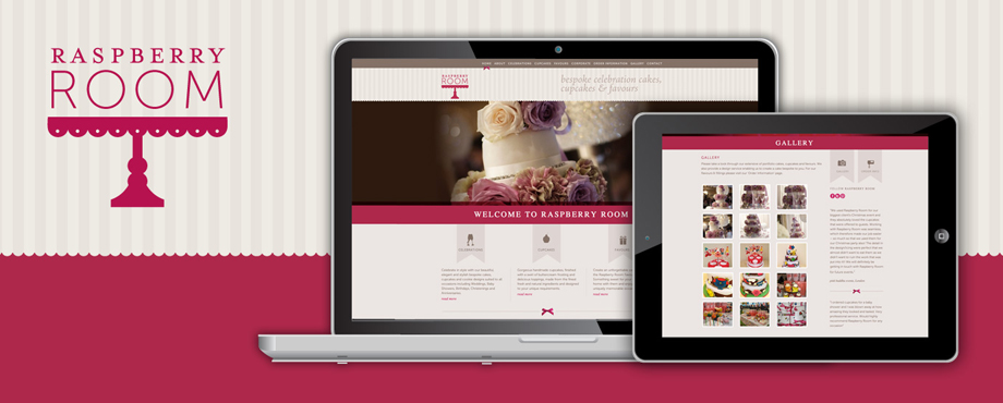 Website design for Raspberry Room by Pad Creative