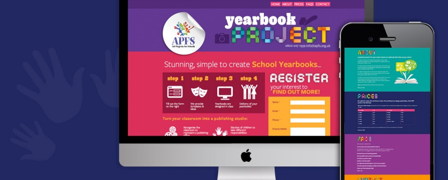 Website design for Art Projects for Schools, by agency Pad Creative