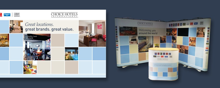 Flexestand design created by Pad for Choice Hotels