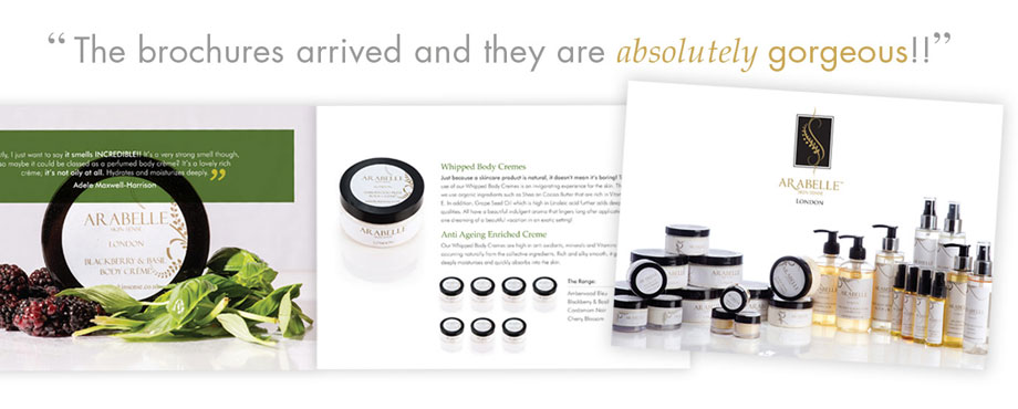 Brochure created for Arrabelle by design company Pad
