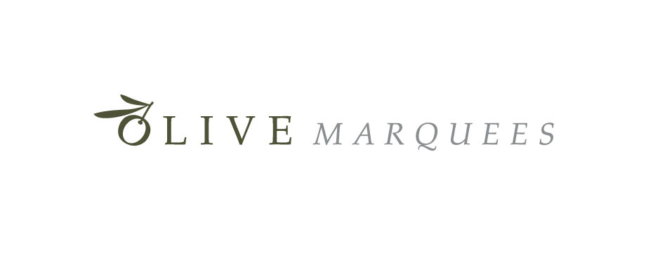 Logo design by Pad Creative for Olive Marquees
