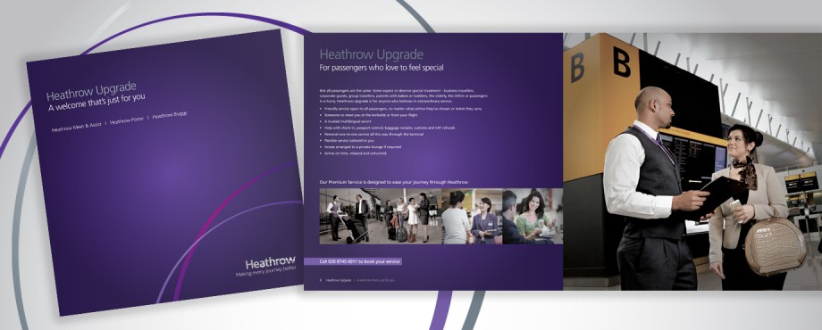 ARL Heathrow brochure designed by company Pad Creative