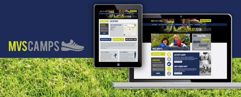 Website development for MVS Sports by design agency Pad Creative