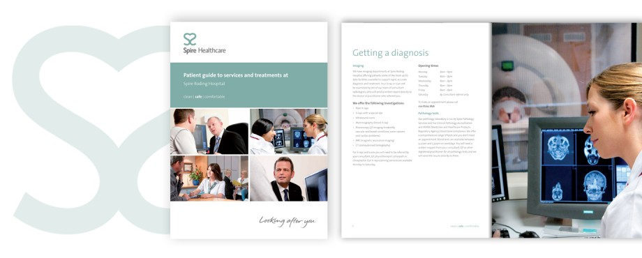 Design agency Pad created this brochure for Spire Healthcare