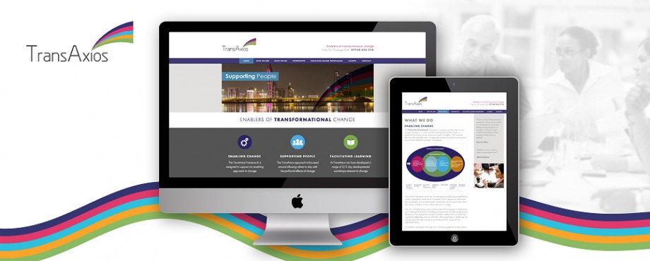 Website devlopment for Transaxios by design company Pad Creative