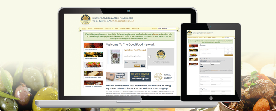 Website design and development for The Good Food Network by Pad Creative
