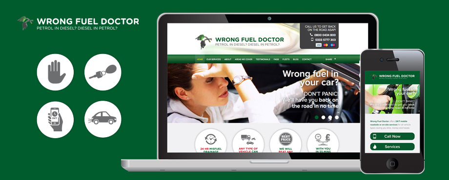 Wrong Fuel Doctor website design and development by Pad Creative