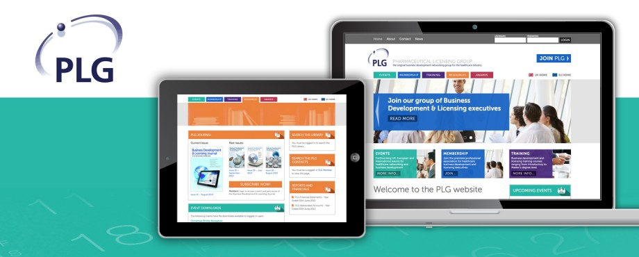 Website development for pharmaceutical company PLG by Pad Creative