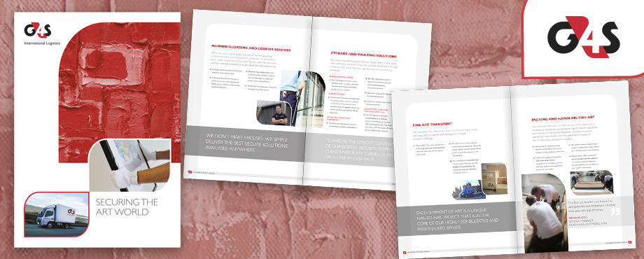 Brochure for security company G4S by design agency Pad Creative