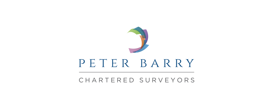 Logo design created for chartered surveyors Peter Barry by Pad