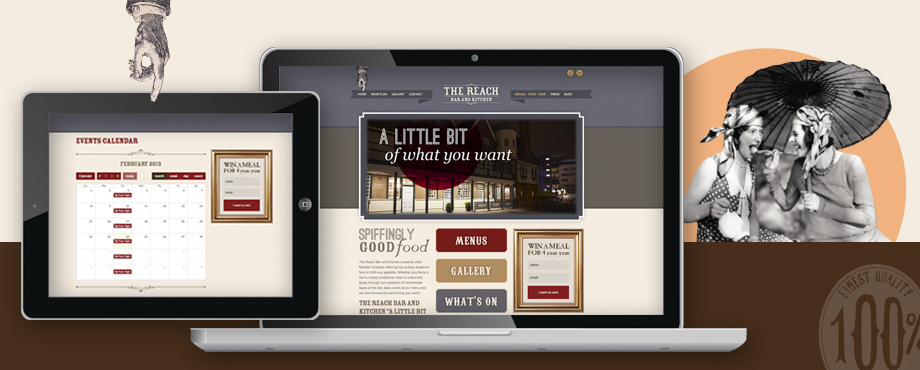 The Reach Bar website development by design company Pad Creative