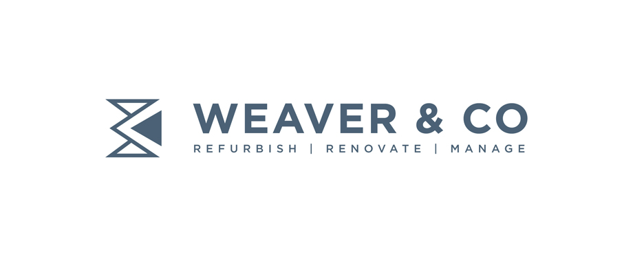 Building contractors Weaver and Co logo by design agency Pad Creative