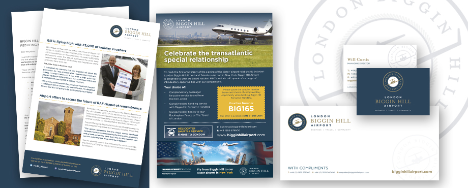 Brochure created for Biggin Hill Airport by creative company Pad
