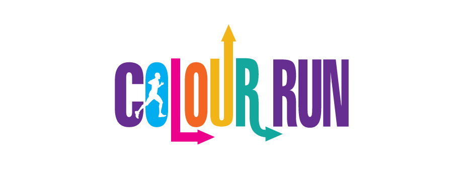 Colour Run logo design by branding agency Pad Creative