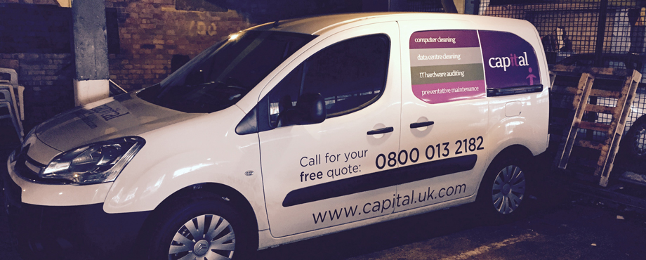 Branded van for Capital by Pad Creative
