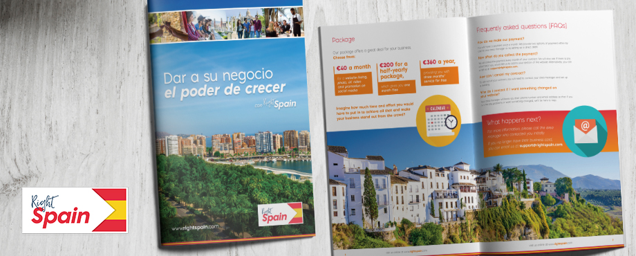 Brochure design for Right Spain by Pad Creative
