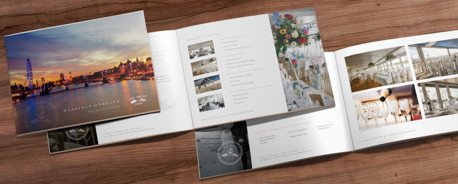 Brochure for The Yacht designed by Pad Creative