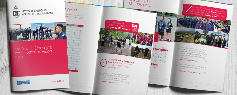 The Duke of Edinburgh Award Statistical Report designed by Pad Creative