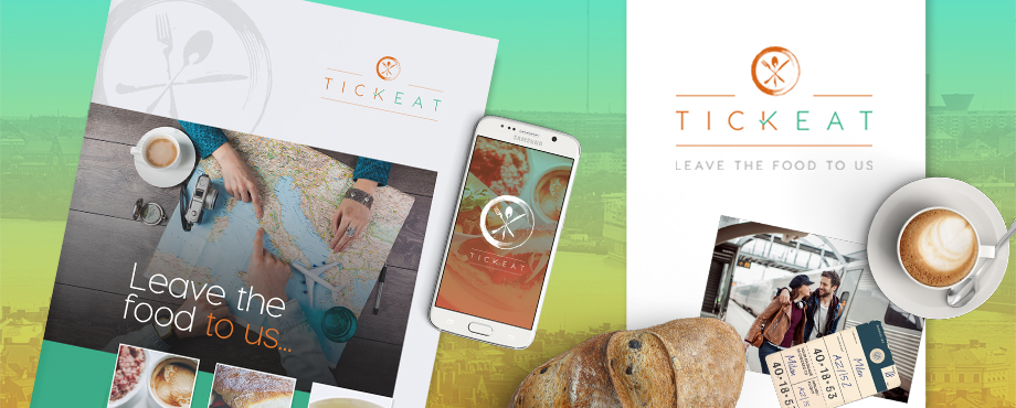 Tickeat brand designed by Pad Creative