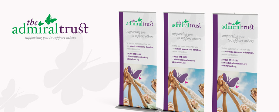 Pull up banner designed for Admiral Trust by creative agency Pad Creative