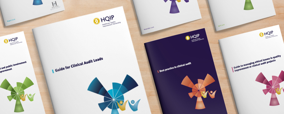 HQIP clinical audit guides designed by creative agency Pad
