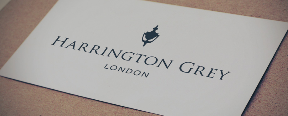 Harrington Grey logo designed by branding agency Pad Creative