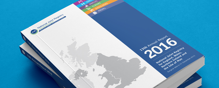 National Joint Registry (NJR) Annual Report designed by Pad Creative
