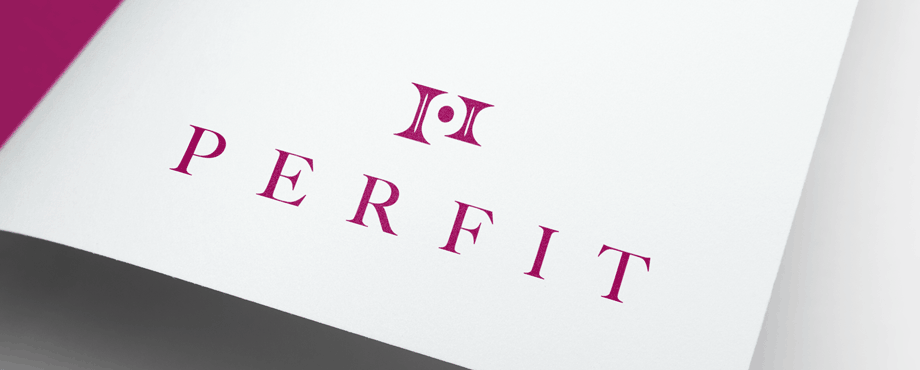 Creative logo designed for modelling agency Perfit by Pad