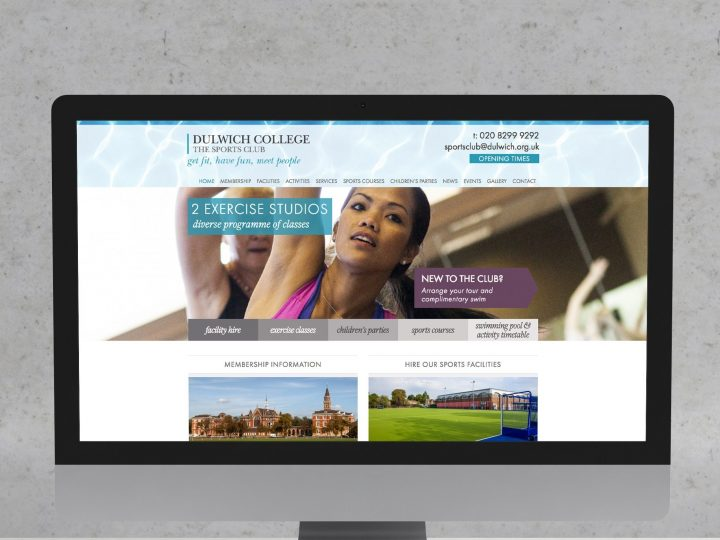 Dulwich College Sports Club website design and build
