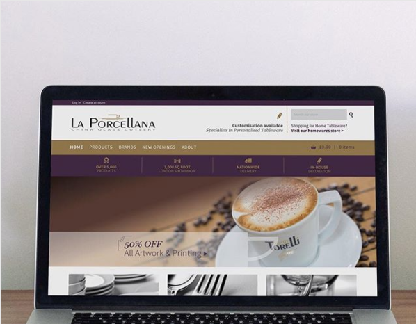 La Porcellana Shopify eCommerce Website design and build