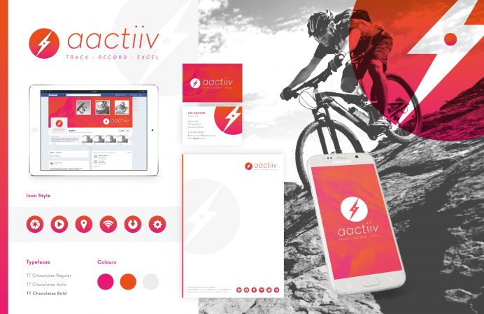 Aactiiv identity design by Pad - Branding Designers London