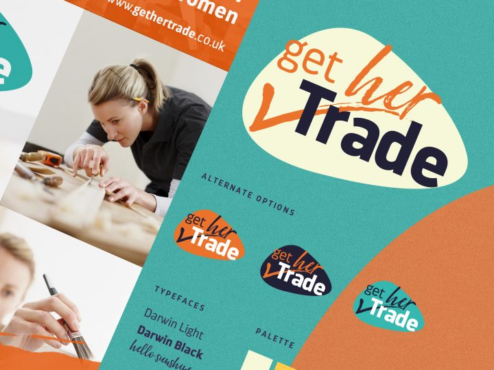 Get Her Trade brand design by Pad, Design Studio