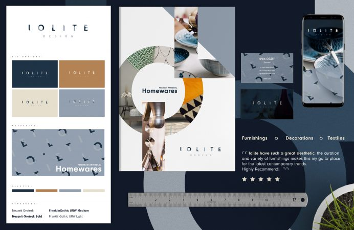 Iolite Brand Design by Pad Creative, London