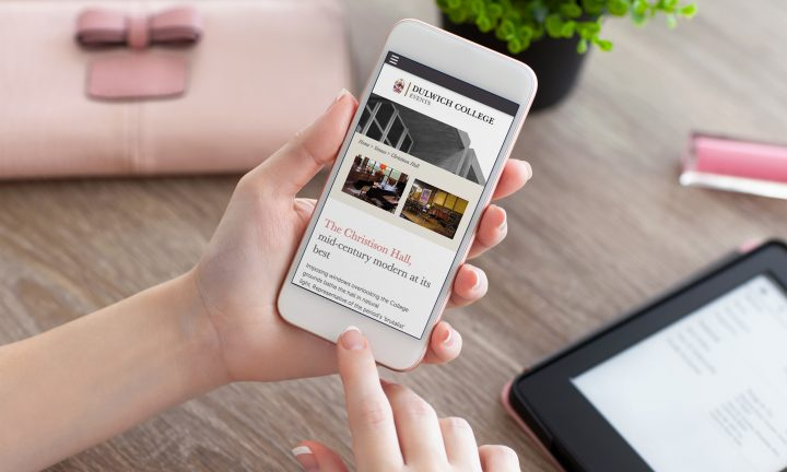 Dulwich College Events Mobile Website Design